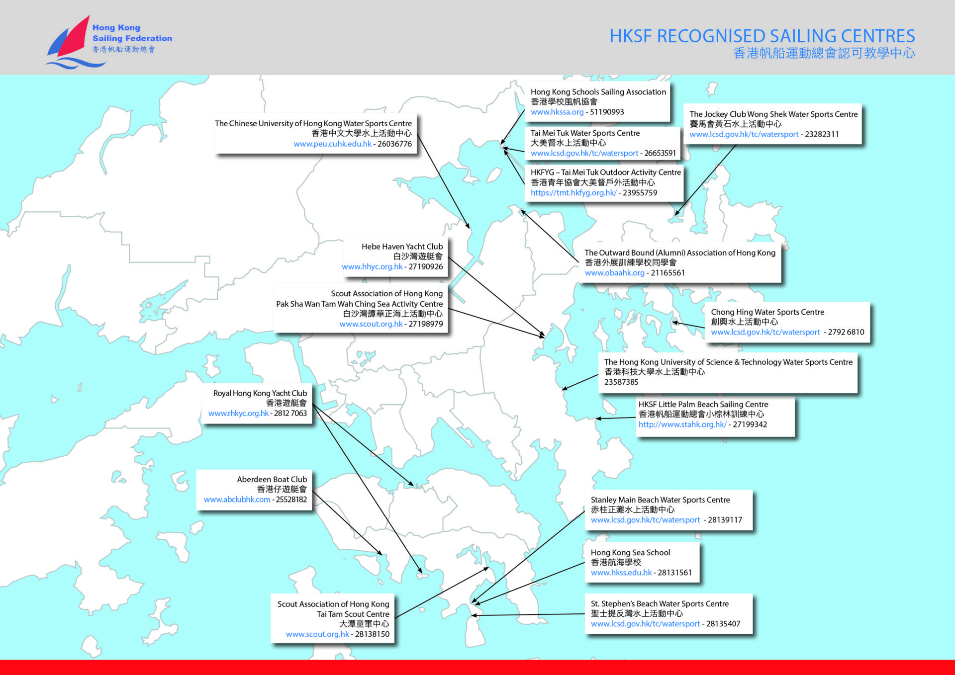 HKSF Recognised Sailing Centres